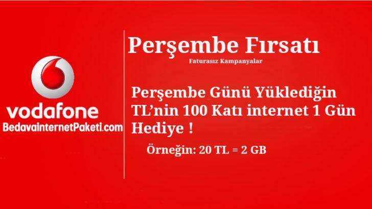 Vodafone Perşembe Özel 2 GB Bedava internet