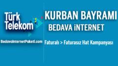 Türk Telekom Kurban Bayramı Bedava internet Paketi