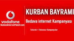 Vodafone Kurban Bayramı Bedava internet Paketi