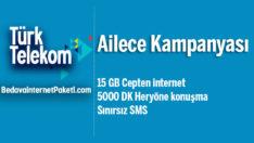 Türk Telekom Ailece 15 GB internet Paketi