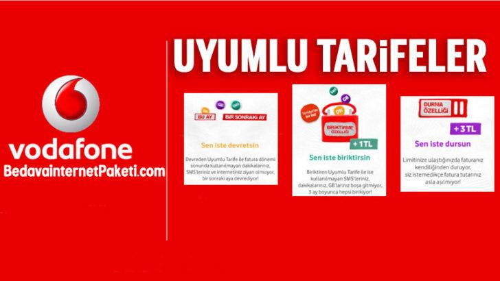Vodafone Biriktiren Uyumlu Tarifeler ile internet Kampanyası