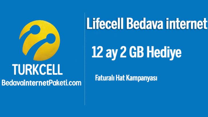 Turkcell LifeCell 2 GB Bedava internet Kampanyası