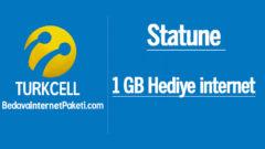 Turkcell Statune 1 GB Bedava internet Paketi
