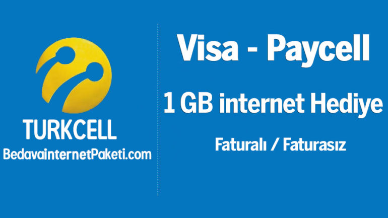 Turkcell Visa Kart Paycell 1 GB Bedava internet