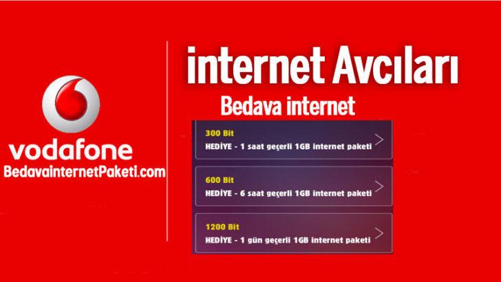 Vodafone internet Avcıları Bedava internet