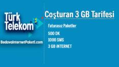 Türk Telekom Coşturan 3 GB Tarifesi + 1 GB Bedava internet