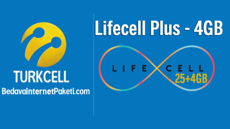 Turkcell Lifecell Plus Paketi 25+4 GB internet