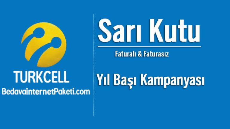 Turkcell Sarı Kutu Yılbaşı indirimleri 2018