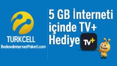 Turkcell 5 GB Bedava internet içinde TV+ Hediye
