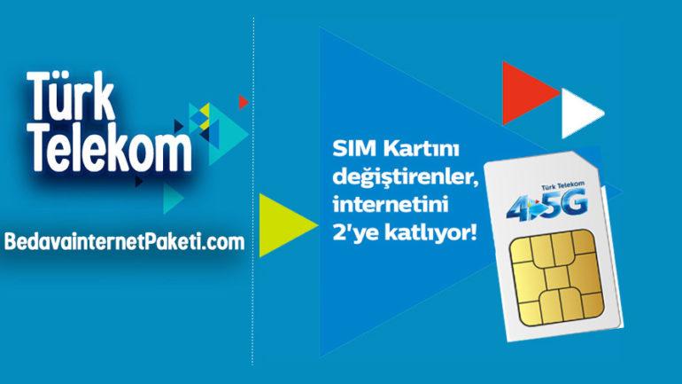 Türk Telekom (Avea) 4.5G X2 internet Paketi Kampanyası