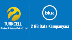 Turkcell Blu TV 2 GB Ek internet Paketi