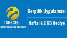 Turkcell Dergilik 2 GB Bedava internet Kampanyası
