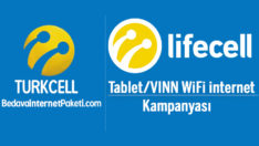 Turkcell Lifecell Tablet/VINN WiFi İnternet Kampanyası