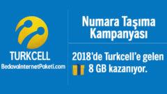 Turkcell Numara Taşıma 8 GB Bedava İnternet 2018