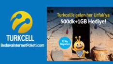 Turkcell Şanlıurfa'ya Özel Avantaj 500DK + 1 GB Bedava internet