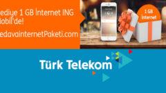 Türk Telekom ING Mobil 1 GB Bedava internet
