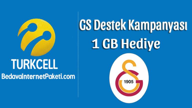 Turkcell Galatasaray Destek 1 GB Bedava internet Kampanyası