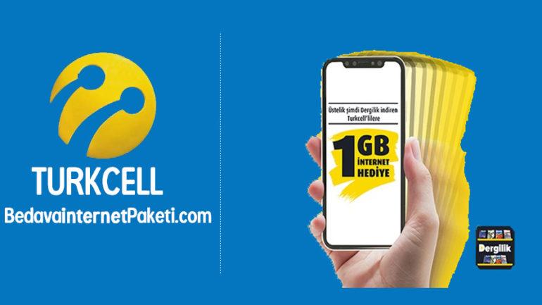 Turkcell Dergilik 1 GB Bedava internet – Ramazan Hediyesi 2018