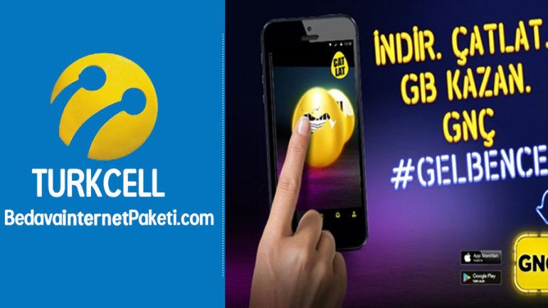 Turkcell GNÇ Çatlat Hediyeni Kap Bedava internet Kampanyası