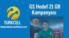Turkcell GS Hedef 21 GB Bedava internet Paketi