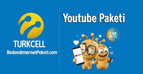 Turkcell Youtube Paketi 5 GB internet