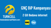 Turkcell GNÇ BiP 2 GB Bedava internet Kampanyası