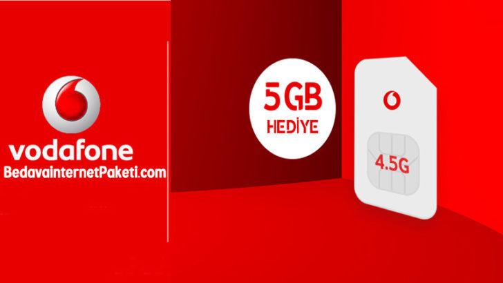 Vodafone 4.5G 5 GB Bedava İnternet Kampanyası