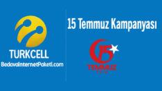 Turkcell 15 Temmuz Bedava internet Kampanyası