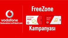 Vodafone FreeZone iletişim Pass veya Müzik Pass Bedava internet
