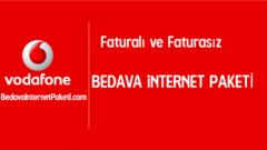 Vodafone Bedava İnternet Paketleri Kampanyası