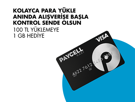 Paycell Kart 1 GB Bedava internet