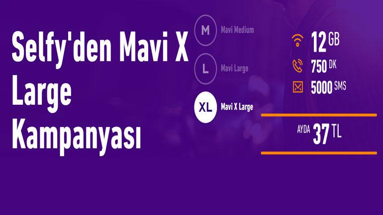 Türk Telekom Selfy Mavi X Large 12 GB internet Paketi 37 TL