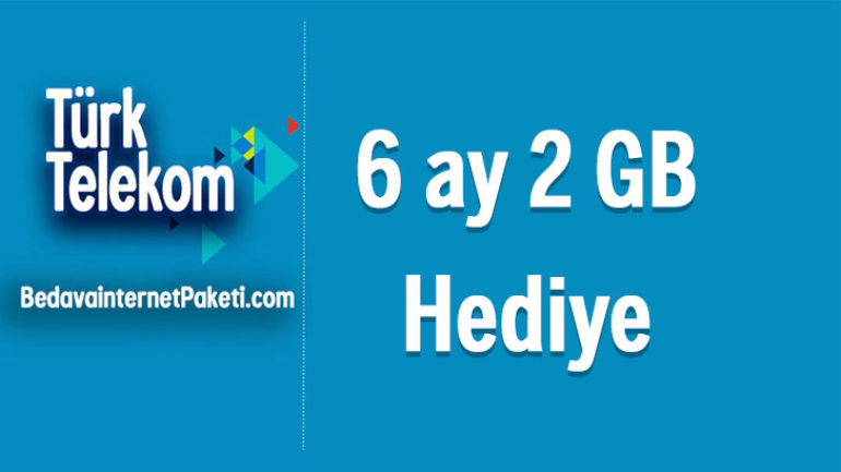 Türk Telekom Renkli Tarife 2 GB Bedava internet