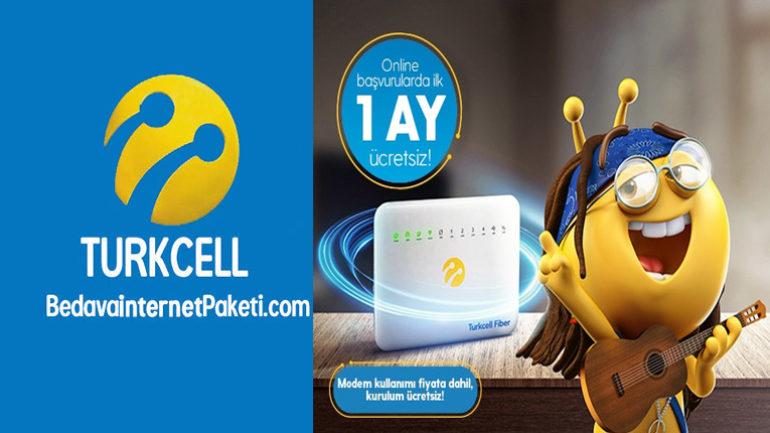 Turkcell 1 Ay 150 GB Bedava internet Fiber Kampanyası