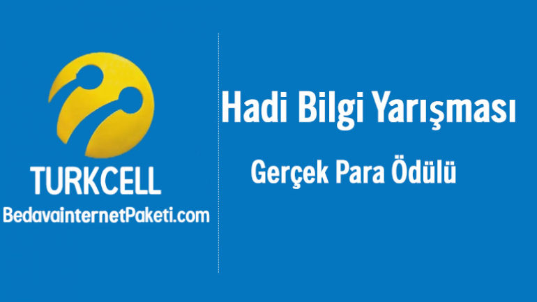 Turkcell BiP Hadi Bilgi Yarışması Para Ödüllü Oyun