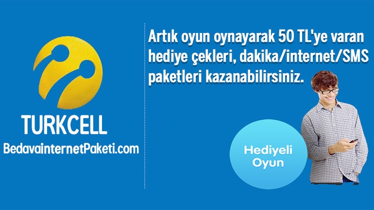 Turkcell Hediyeli Oyun 1 GB Hediye internet