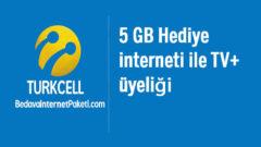 Turkcell Bedava internet Yükle Kazan Her Ay 5 GB TV+ Paketi