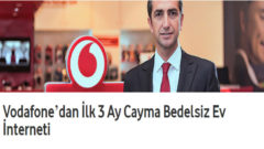 Vodafone İlk 3 Ay Cayma Bedelsiz Ev İnterneti Kampanyası
