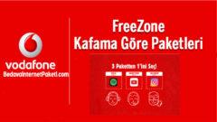 Vodafone FreeZone Gençlik Tarifeleri – Bedava internet