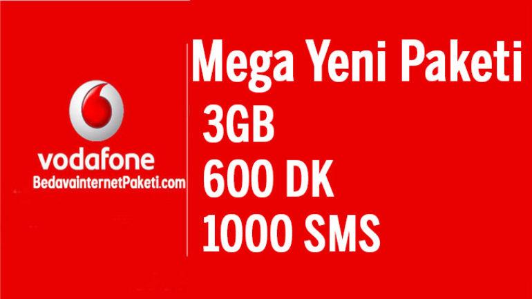 Vodafone Mega Yeni Tarifesi 3 GB internet 25 TL Oldu
