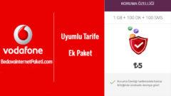 Vodafone Uyumlu Tarife Koruma Özelliği 1 GB 5 TL