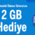 Turkcell Yapı Kredi Mobil 2 GB Bedava internet Kampanyası
