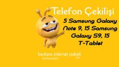 Turkcell Dergilik Samsung Note 9, Samsung S9, Tablet Çekilişi