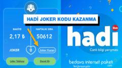 Hadi Bilgi Yarışması Joker Kazanma