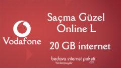 Vodafone Saçma Güzel Online L Tarifesi – 20 GB internet