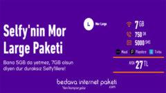 Türk Telekom Selfy Mor Large Tarifesi – 7 GB internet