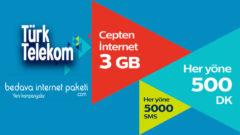 Türk Telekom Selfy Turuncu Small 3 GB internet, 500 Dakika 5000 SMS 18 TL