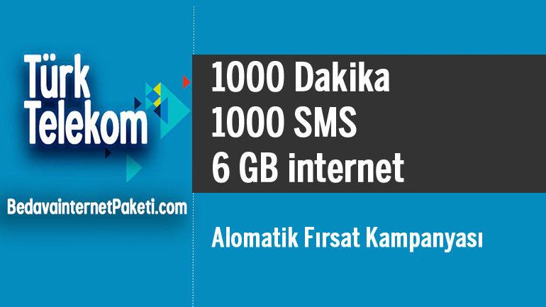 Türk Telekom 1000 Dakika – 6 GB internet 27 TL
