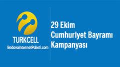 Turkcell 29 Ekim Bedava internet Kampanyası 2018