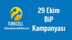 Turkcell 29 Ekim Bip Sesli ve Görüntülü Arama Hediye Kampanyası